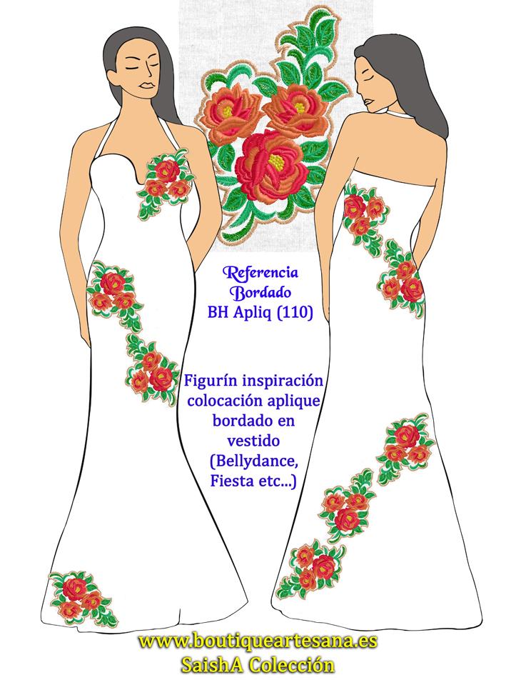 Aplique (110) vestido