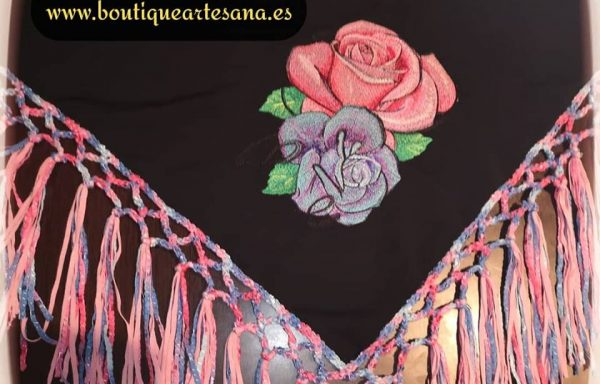Pañuelo Belly Dance: Rosas