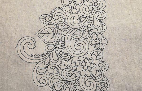 Bolsa algodón: Mandala para colorear